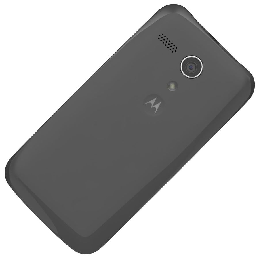 Motorola Moto G 4G Czarny royalty-free 3d model - Preview no. 19
