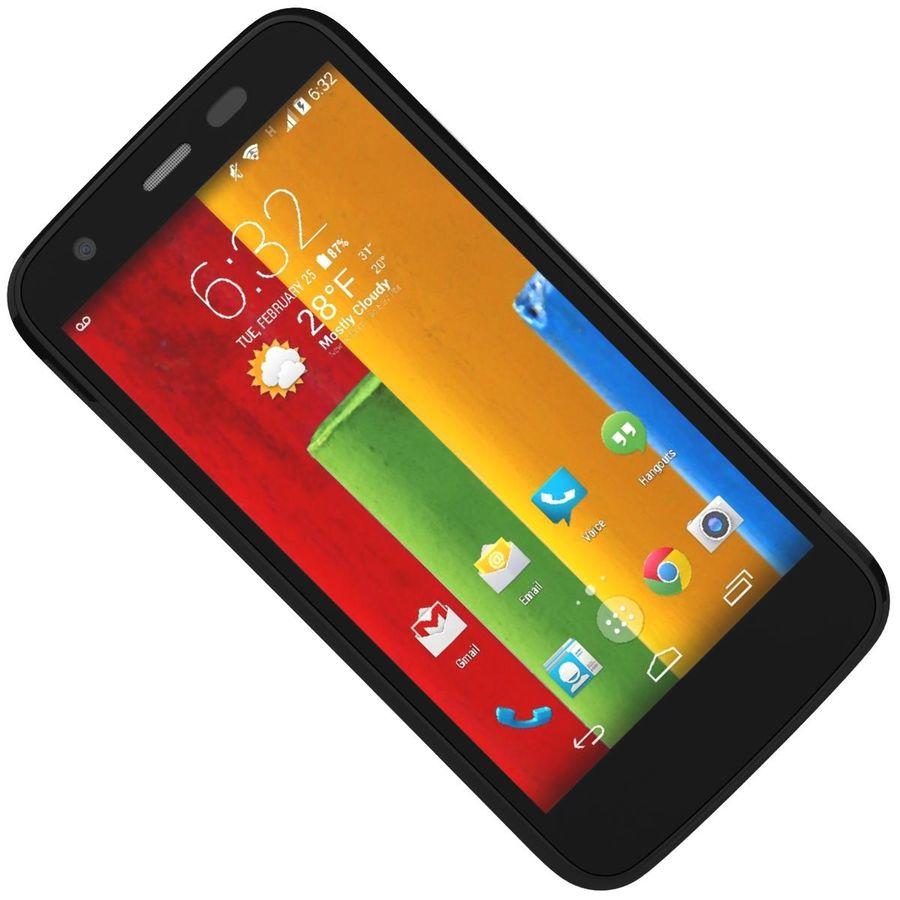 Motorola Moto G 4G nero royalty-free 3d model - Preview no. 18