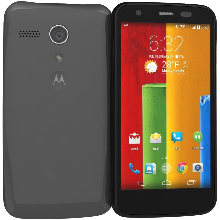 Motorola Moto G 4G nero royalty-free 3d model - Preview no. 1