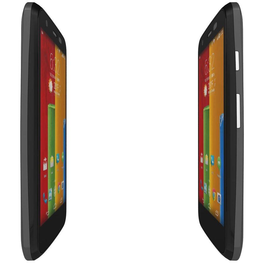 Motorola Moto G 4G Czarny royalty-free 3d model - Preview no. 10
