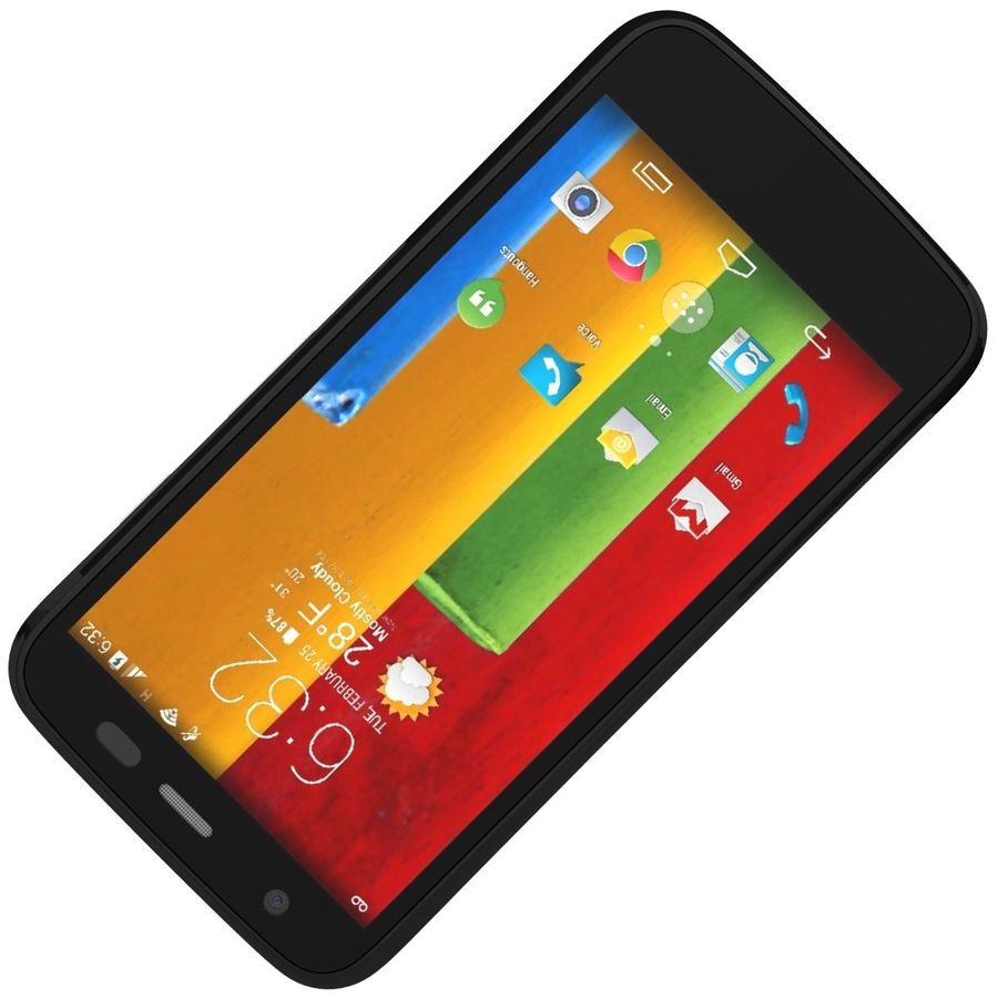Motorola Moto G 4G Czarny royalty-free 3d model - Preview no. 17