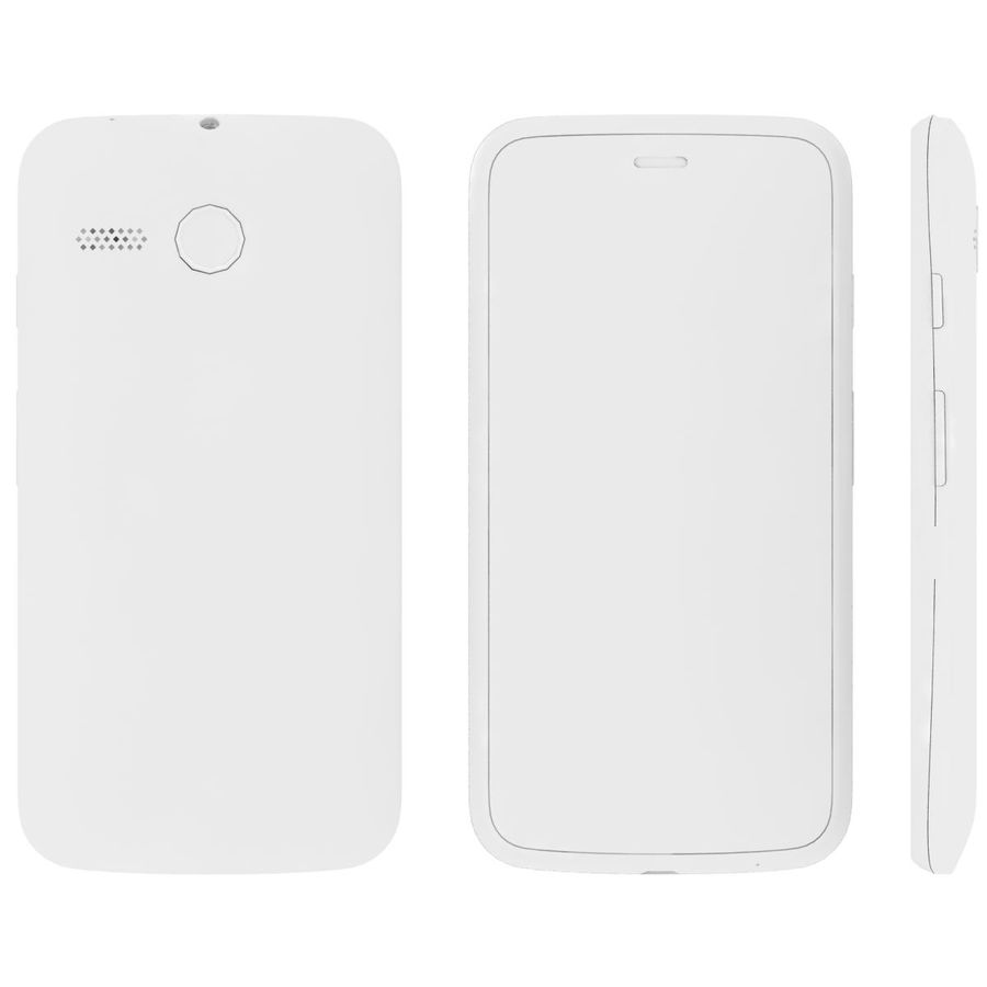 Motorola Moto G 4G Czarny royalty-free 3d model - Preview no. 23