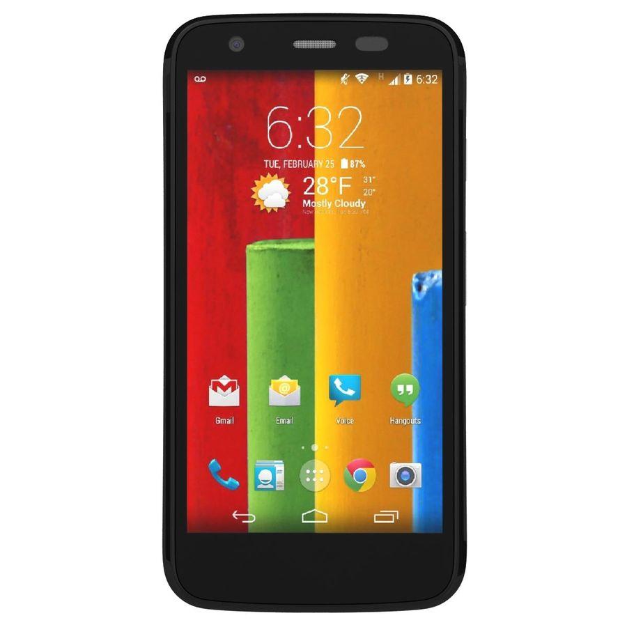 Motorola Moto G 4G nero royalty-free 3d model - Preview no. 6