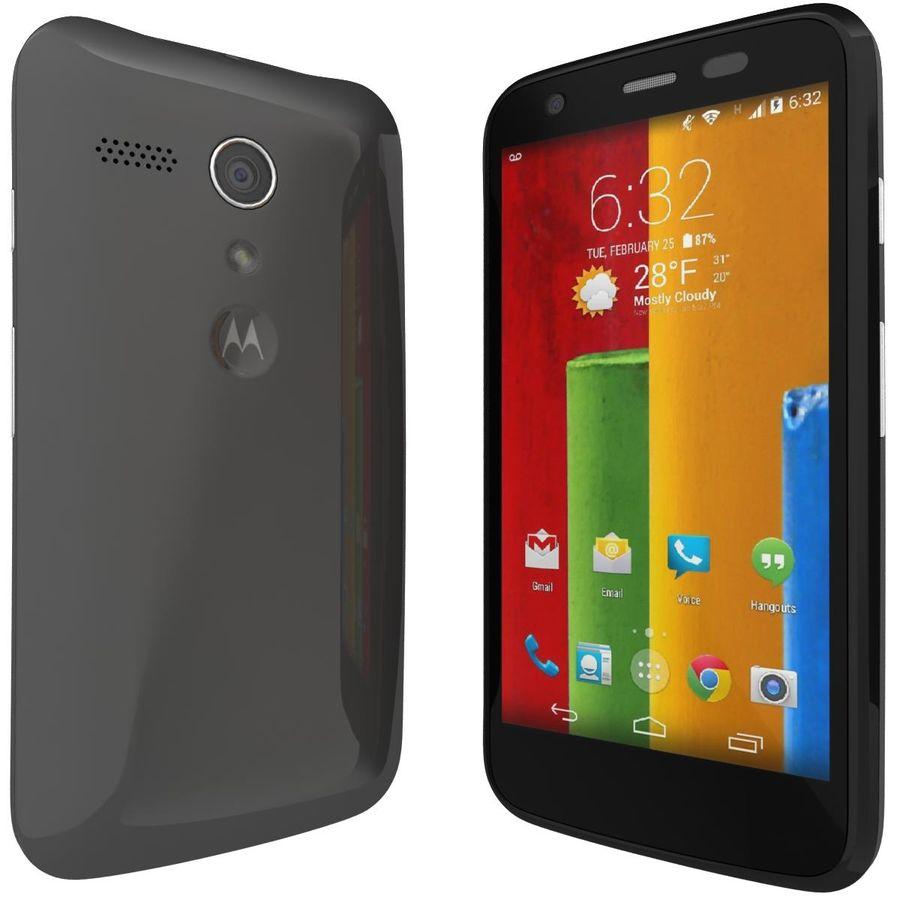 Motorola Moto G 4G Svart royalty-free 3d model - Preview no. 4