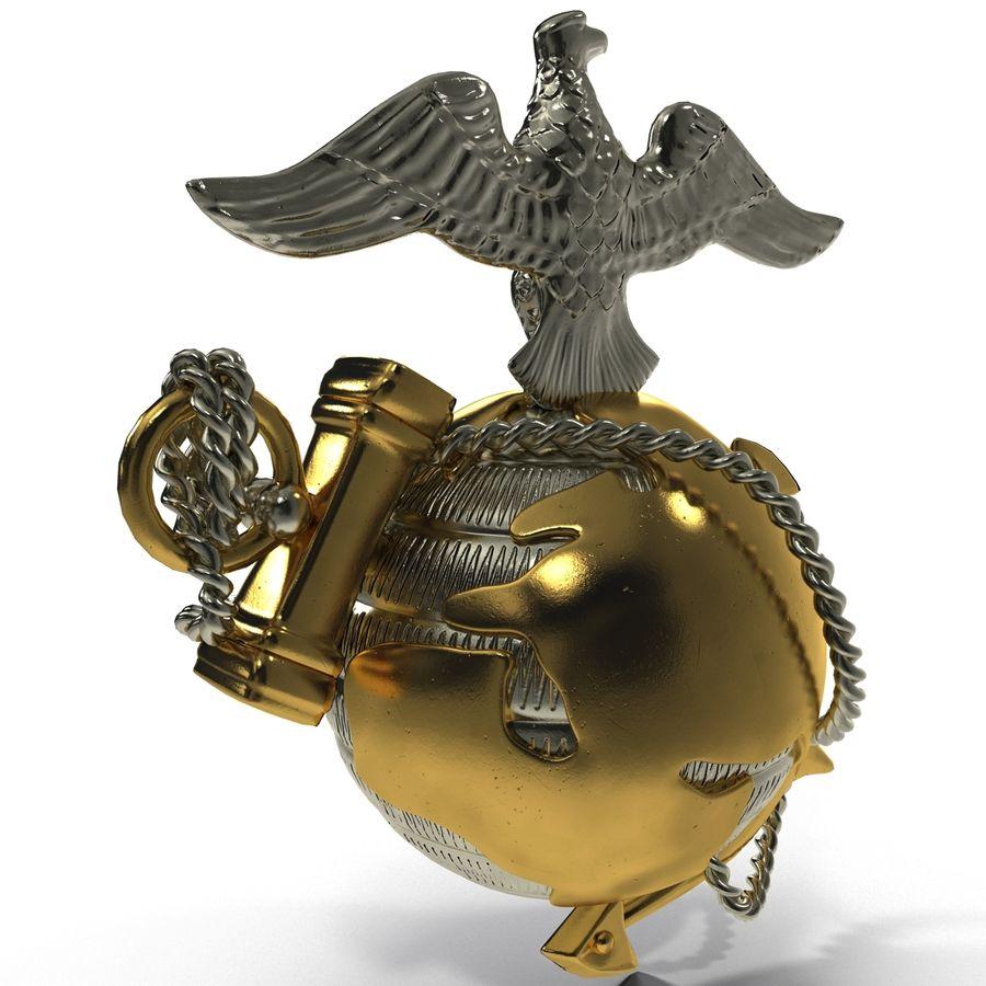 USMC Emblem royalty-free 3d model - Preview no. 6
