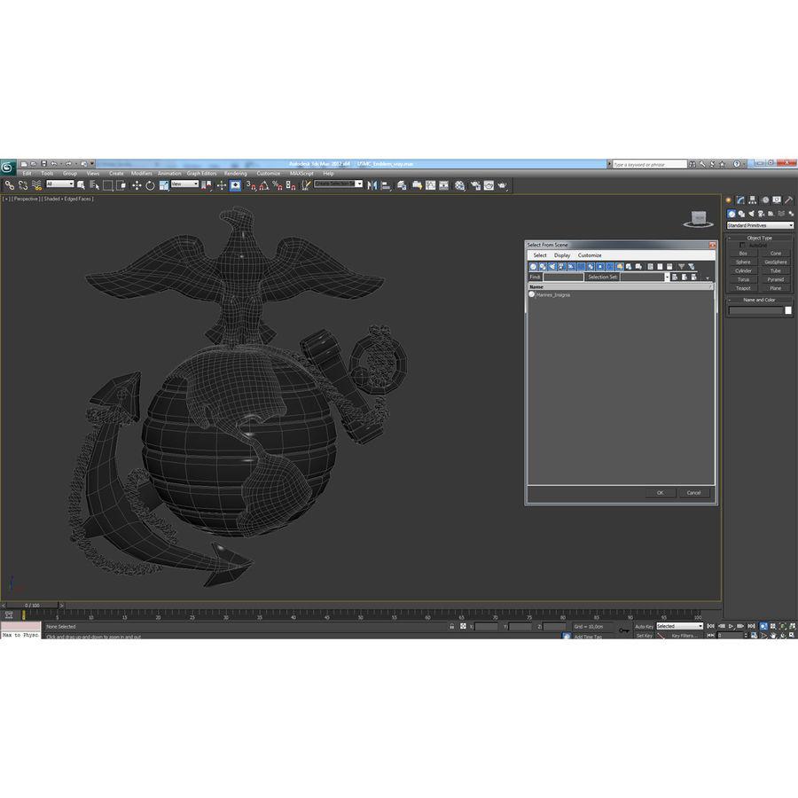 USMC Emblem royalty-free 3d model - Preview no. 40