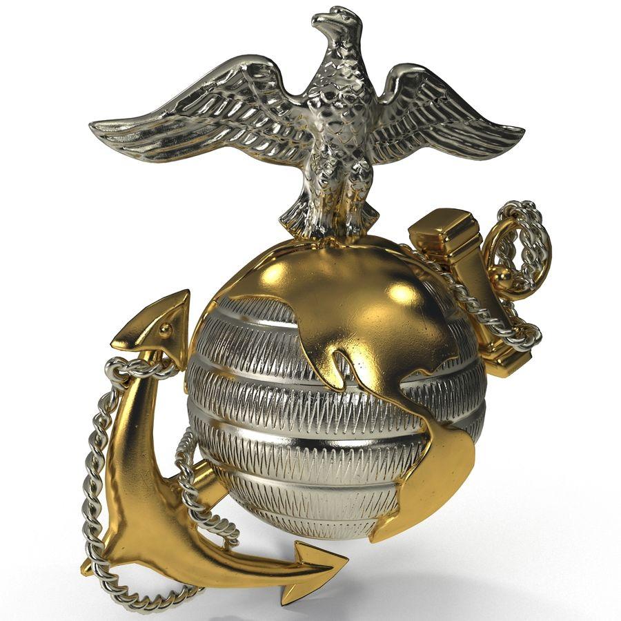 USMC Emblem royalty-free 3d model - Preview no. 4