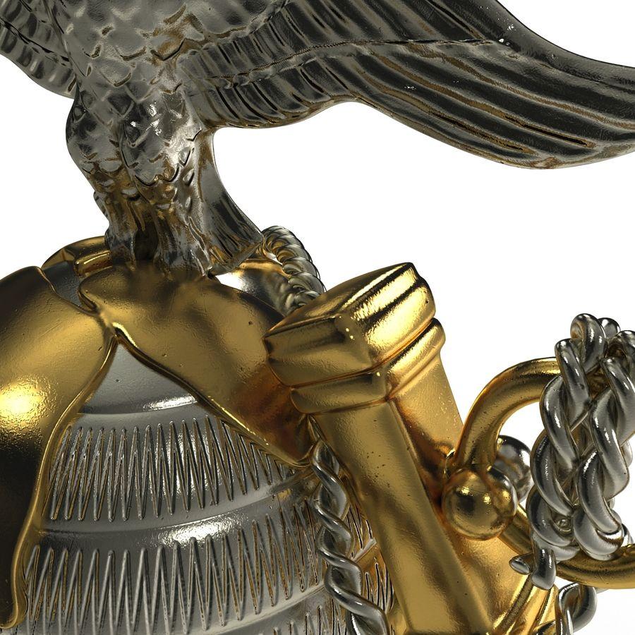 USMC Emblem royalty-free 3d model - Preview no. 14