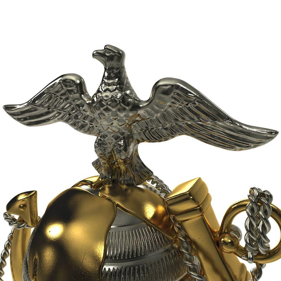USMC Emblem royalty-free 3d model - Preview no. 17