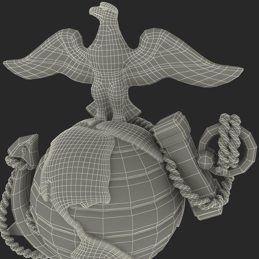 USMC Emblem royalty-free 3d model - Preview no. 23
