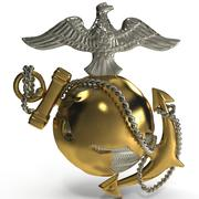Emblema USMC 3d model