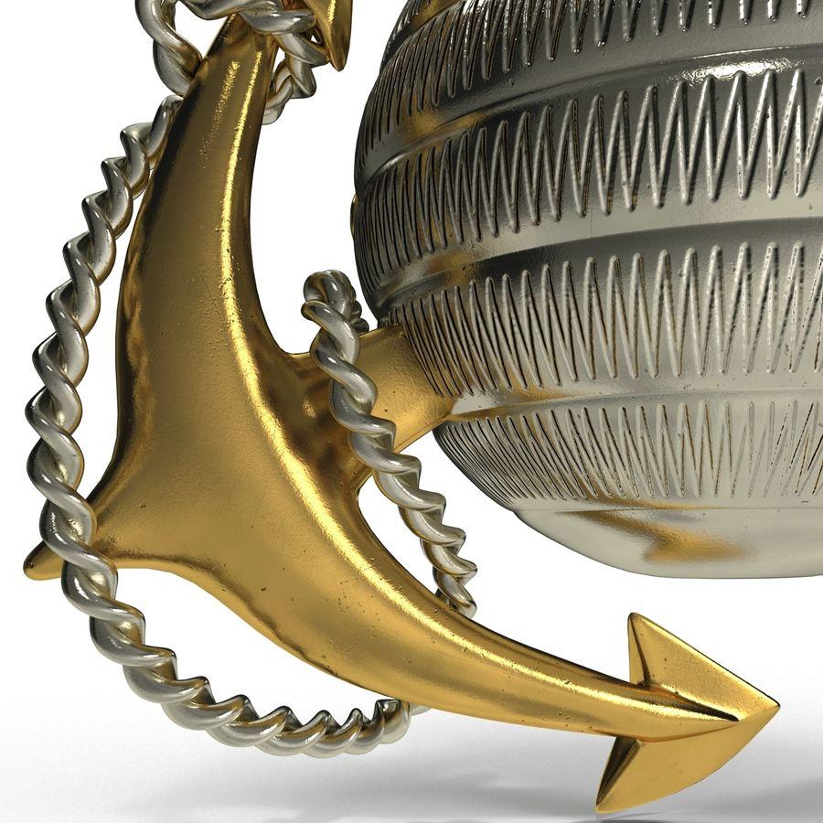 USMC Emblem royalty-free 3d model - Preview no. 10