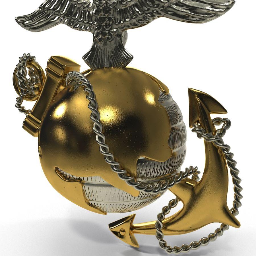 USMC Emblem royalty-free 3d model - Preview no. 9
