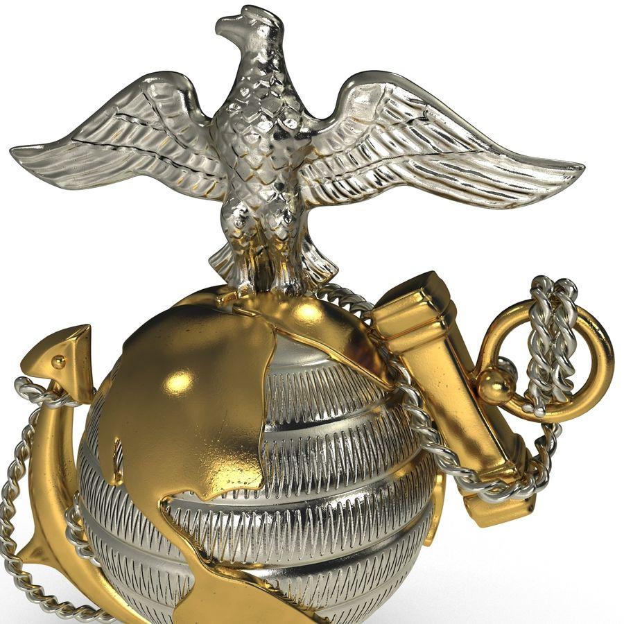 USMC Emblem royalty-free 3d model - Preview no. 8