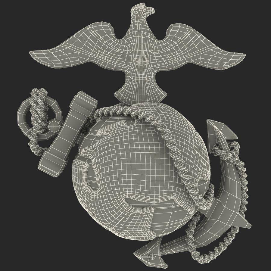 USMC Emblem royalty-free 3d model - Preview no. 35
