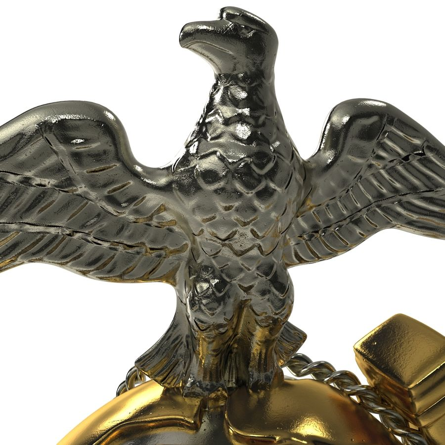 USMC Emblem royalty-free 3d model - Preview no. 16