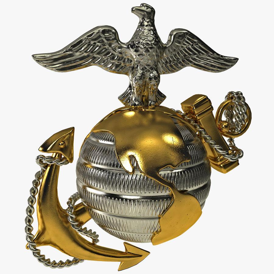 USMC Emblem royalty-free 3d model - Preview no. 1