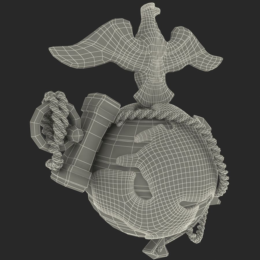 USMC Emblem royalty-free 3d model - Preview no. 21