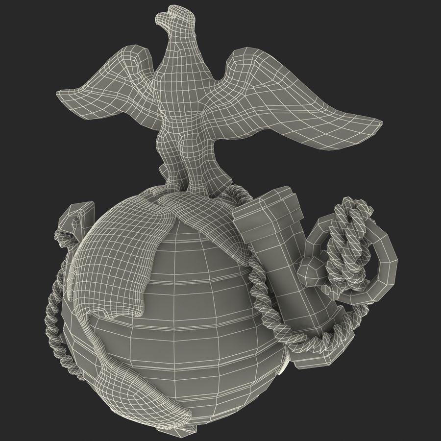 USMC Emblem royalty-free 3d model - Preview no. 20