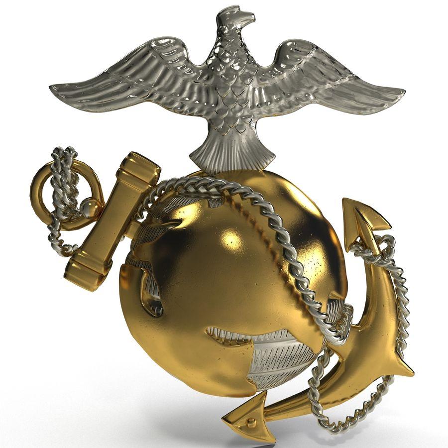 USMC Emblem royalty-free 3d model - Preview no. 3