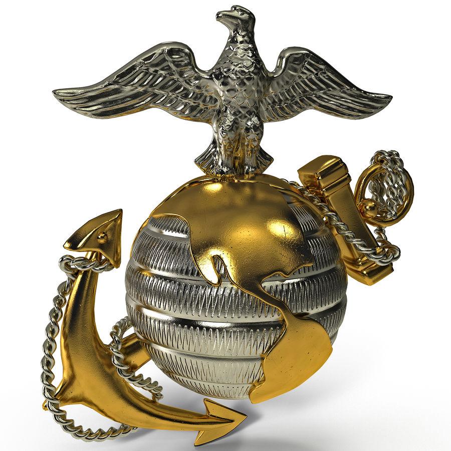 USMC Emblem royalty-free 3d model - Preview no. 2