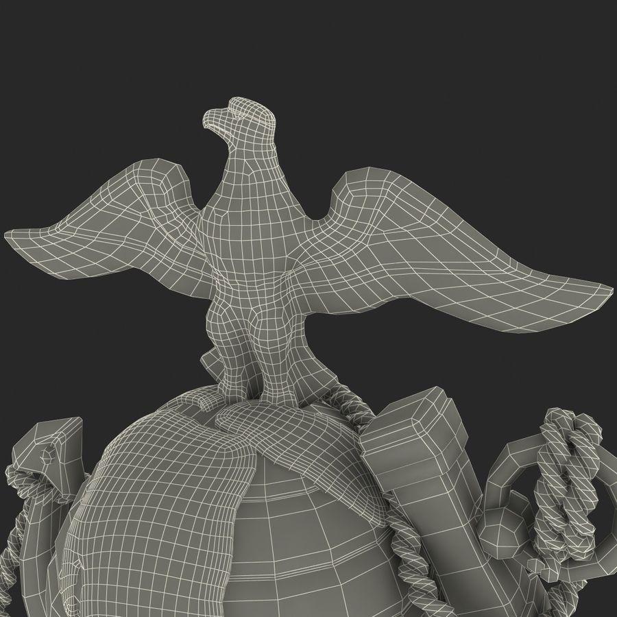 USMC Emblem royalty-free 3d model - Preview no. 32
