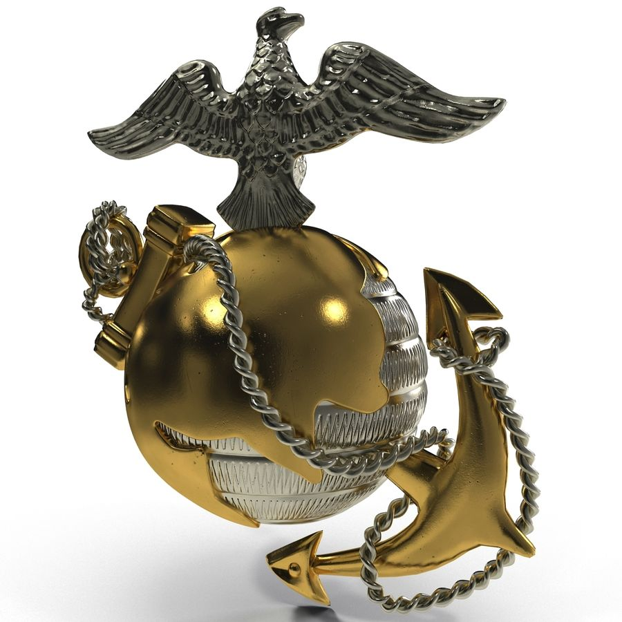 USMC Emblem royalty-free 3d model - Preview no. 7