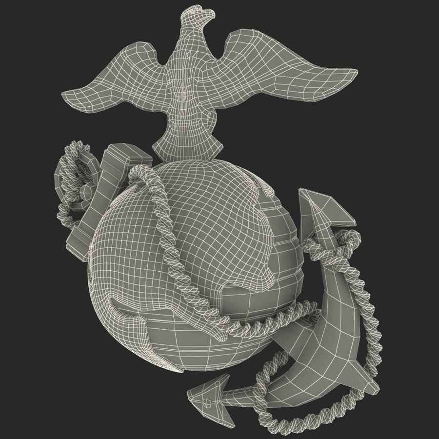 USMC Emblem royalty-free 3d model - Preview no. 22