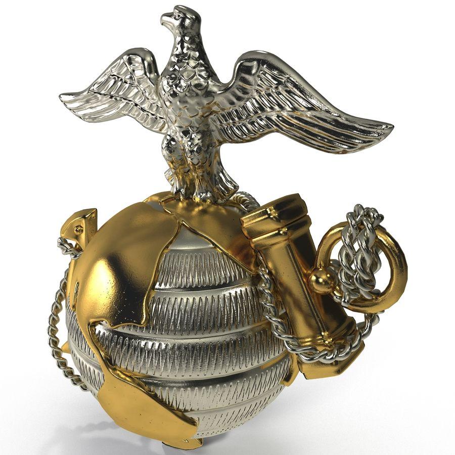 USMC Emblem royalty-free 3d model - Preview no. 5