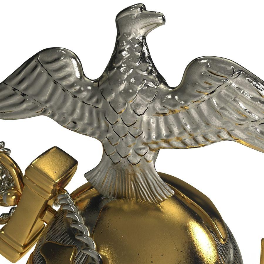 USMC Emblem royalty-free 3d model - Preview no. 18