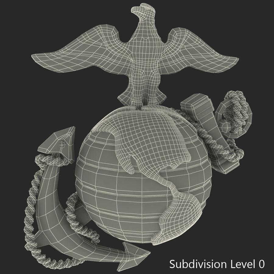 USMC Emblem royalty-free 3d model - Preview no. 36