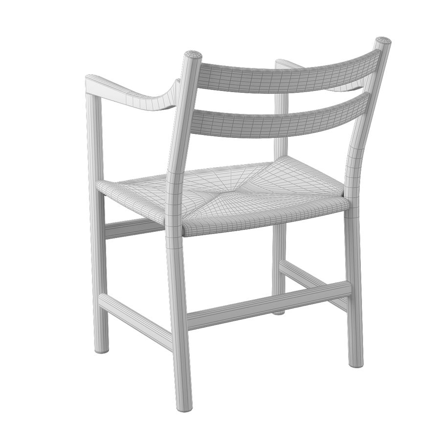 CH46 Стул Hans J. Wegner royalty-free 3d model - Preview no. 10