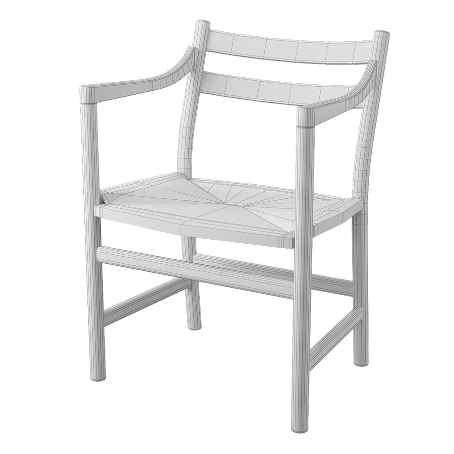 CH46 Стул Hans J. Wegner royalty-free 3d model - Preview no. 7