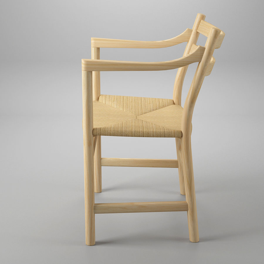 CH46 Стул Hans J. Wegner royalty-free 3d model - Preview no. 4