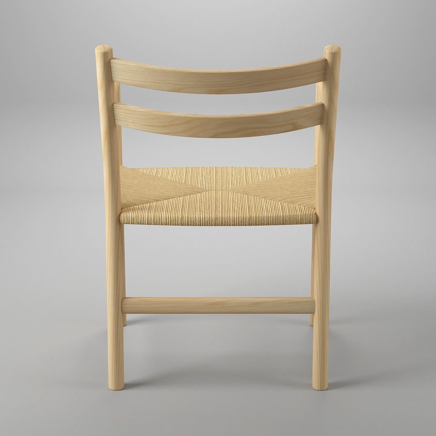 CH46 Стул Hans J. Wegner royalty-free 3d model - Preview no. 6