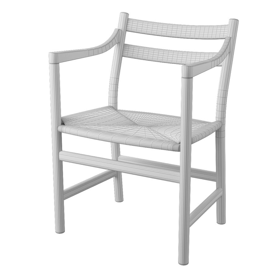 CH46 Стул Hans J. Wegner royalty-free 3d model - Preview no. 8