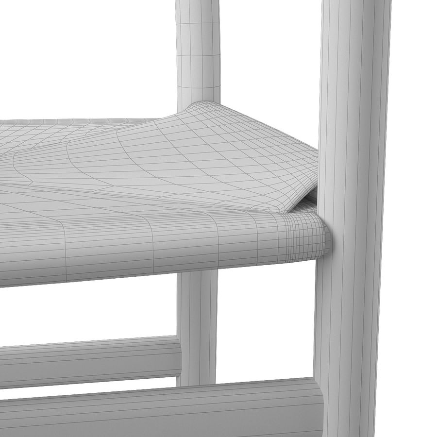 CH46 Стул Hans J. Wegner royalty-free 3d model - Preview no. 12