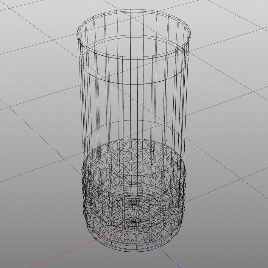 Huit verres à boire royalty-free 3d model - Preview no. 6