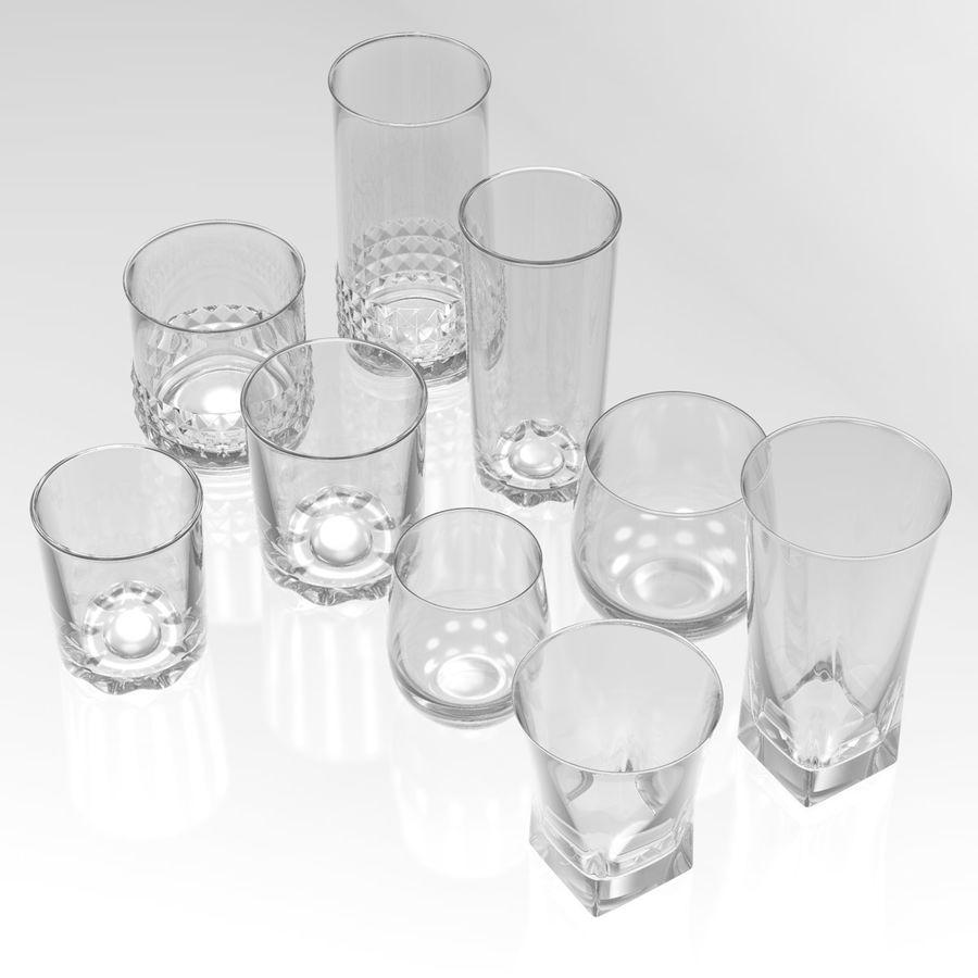 Huit verres à boire royalty-free 3d model - Preview no. 1