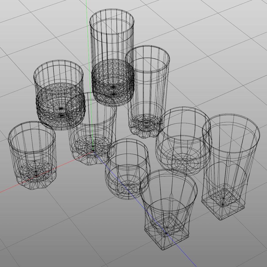 Huit verres à boire royalty-free 3d model - Preview no. 3