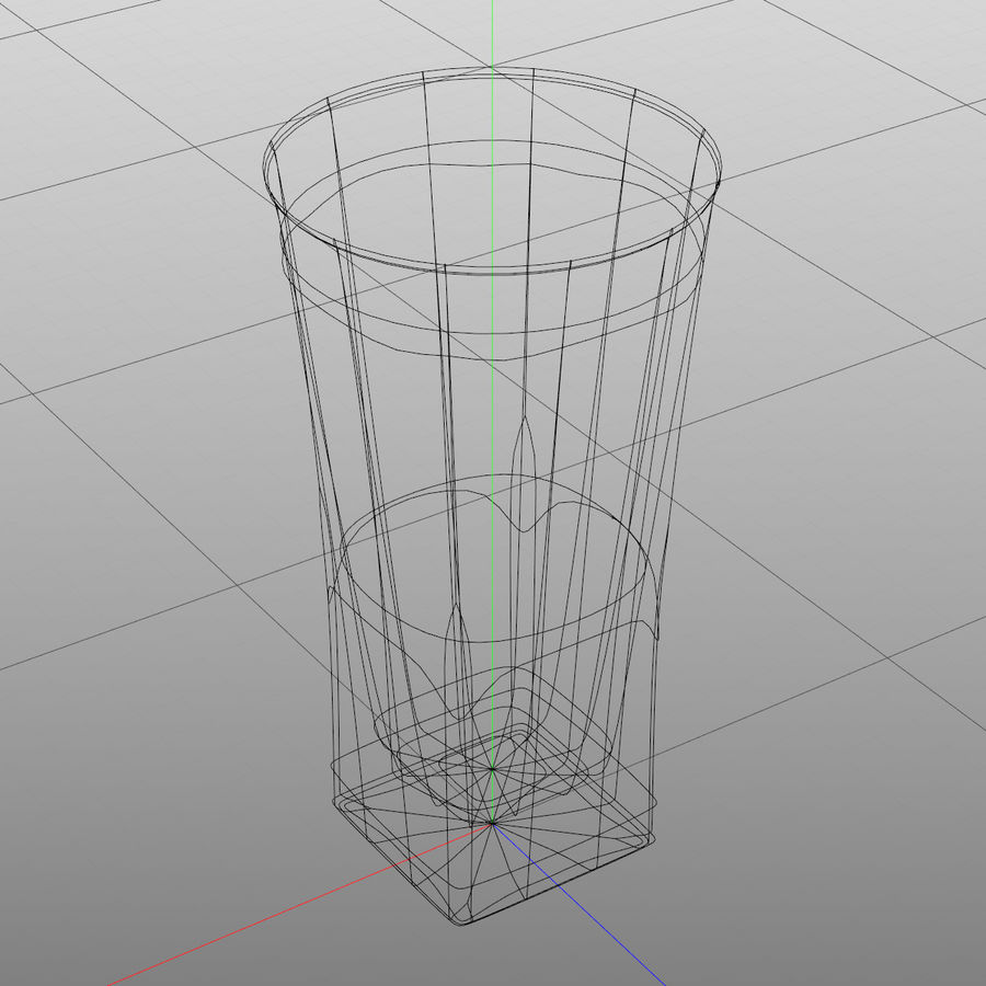 Huit verres à boire royalty-free 3d model - Preview no. 27