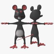 Cartoon Rat 3d model