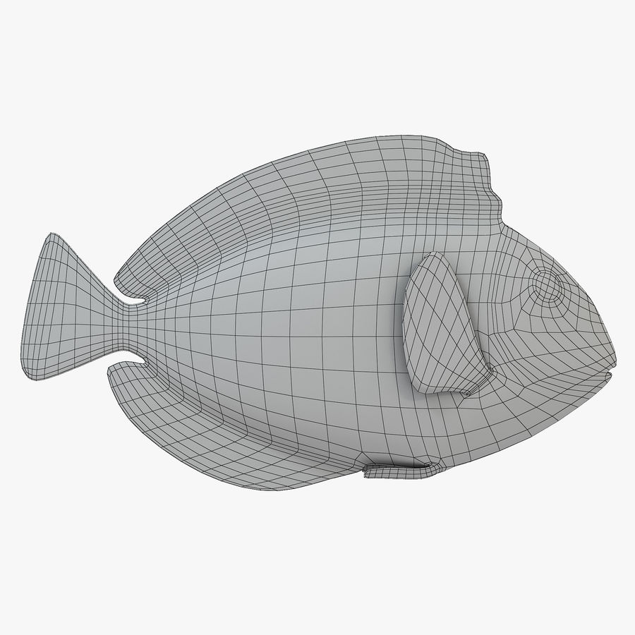 Pacific Blue Tang royalty-free 3d model - Preview no. 6