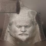 Vladimir Lenin Face Monument 3d model