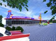 Route 66 Diner 3d model