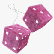 Furry Dice 3d model