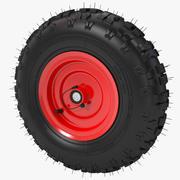 鼓风机雪胎轮胎 3d model