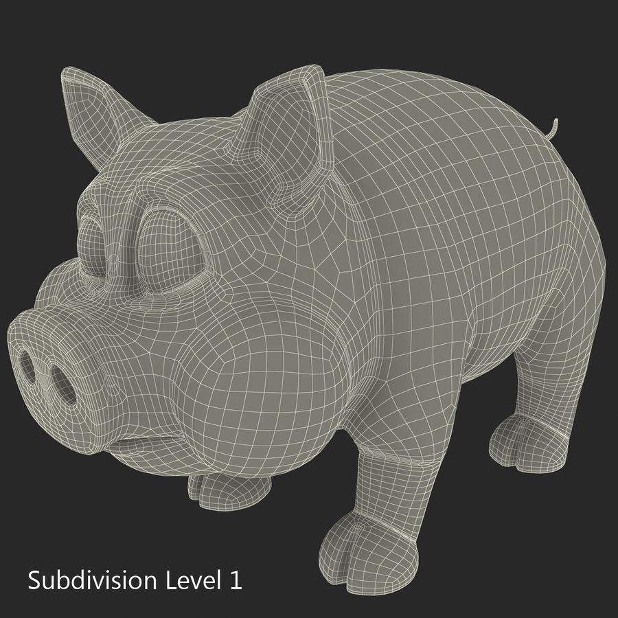 Cartoon Pig royalty-free 3d model - Preview no. 24