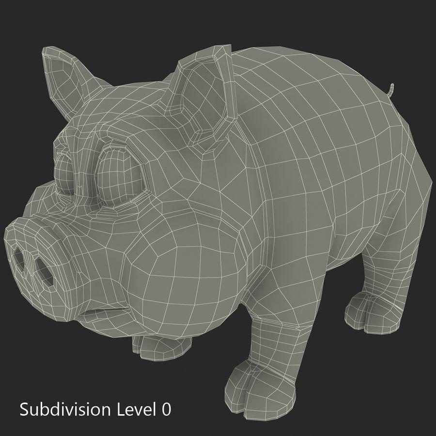 Cartoon Pig royalty-free 3d model - Preview no. 23