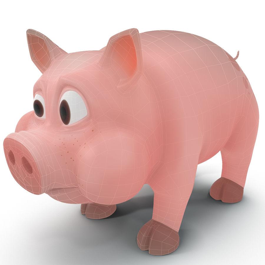 Cartoon Pig royalty-free 3d model - Preview no. 17